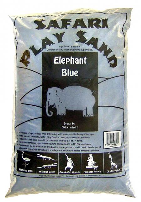 Safari Play Sand - Elephant Blue