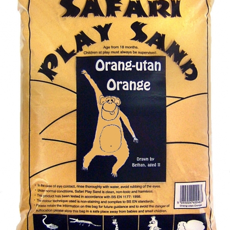 Safari Play Sand - Orang-utan Orange