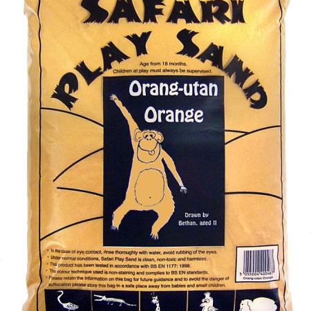 Safari Play Sand - Orang-utan Orange